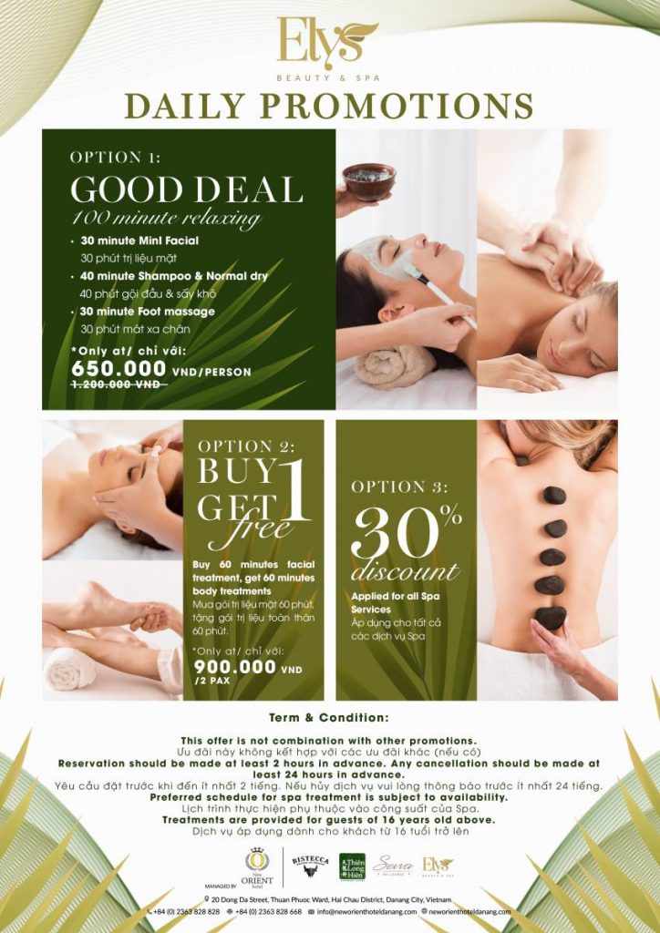 Spa promotion at New Orient Hotel Danang